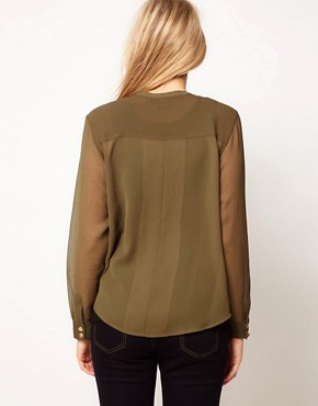 Image 2 ofASOS Maternity Military Blouse