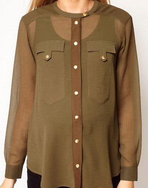 Image 3 ofASOS Maternity Military Blouse
