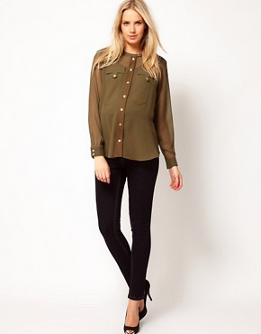 Image 4 ofASOS Maternity Military Blouse