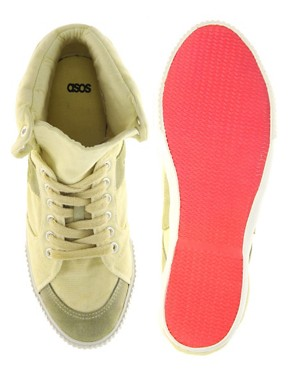 Image 3 ofASOS DUDE Washed Canvas High Tops