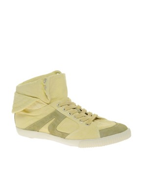 Image 1 ofASOS DUDE Washed Canvas High Tops