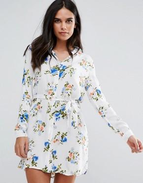 Unique21 Printed Shirt Dress