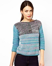 See By Chloe Knitted Jumper in Multi Colour Twisted Yarn