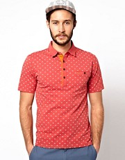 Polo con estampado de Farah Vintage
