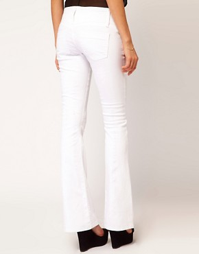 Image 2 ofASOS Super Sexy Flare Jeans in White #17