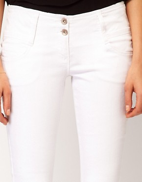 Image 3 ofASOS Super Sexy Flare Jeans in White #17