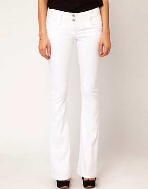 Image 4 ofASOS Super Sexy Flare Jeans in White #17