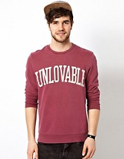 ASOS Sweatshirt With Unlovable Print