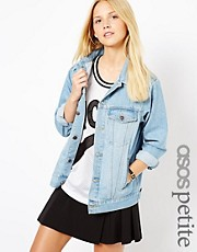 ASOS PETITE Denim Jacket In Oversized Boyfriend Fit