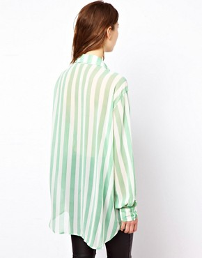 Image 2 ofGlamorous Long Line Sheer Shirt