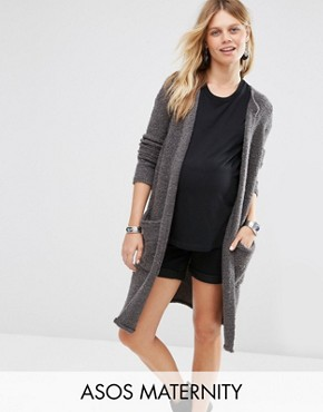 ASOS Maternity Cardigan in Boucle