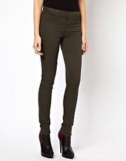 Warehouse Skinny Jegging In Green Denim