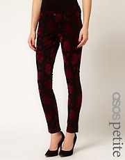 ASOS PETITE Exclusive Skinny Jeans In Baroque Print