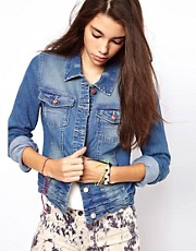 Only - Giacca di jeans stile western