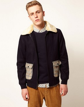 Image 1 ofSelf Shearling Flight Jacket