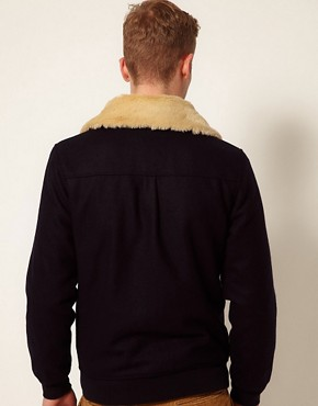 Image 2 ofSelf Shearling Flight Jacket