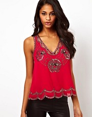 Lipsy Sequin Deco Top