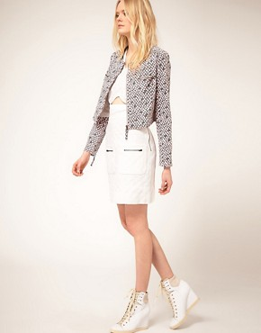 Image 4 ofSee by Chloe Printed Denim Short Jacket