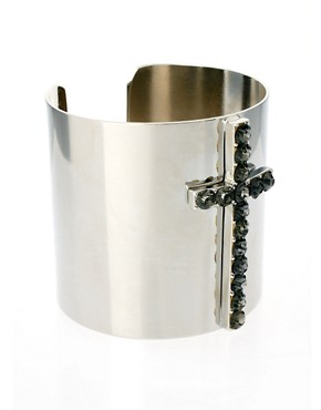 Image 1 ofASOS Jewelled Cross Cuff