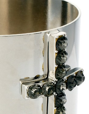 Image 4 ofASOS Jewelled Cross Cuff