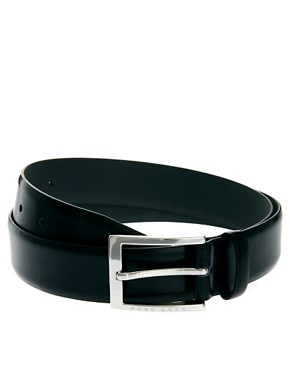 Image 1 of Boss Black Leather Belt