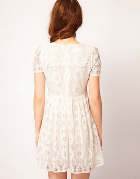 Image 2 ofDahlia Floral Lace Collar Skater Dress