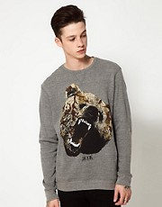 Rook Crew Neck Sweat Camo Bear