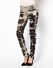 Tripp Nyc Tye Dye Marble Ripped Jeans