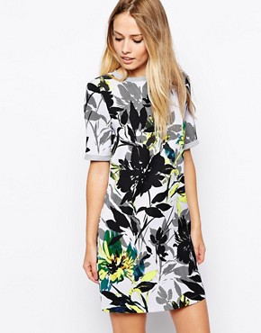 Warehouse Placement Floral Shift Dress