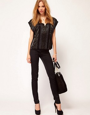 Image 4 ofSelected Imma Sequined Shell Top