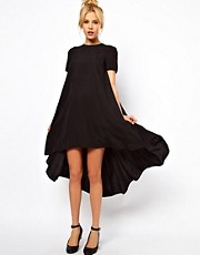 ASOS T-Shirt Dress With Dipped Back Hem