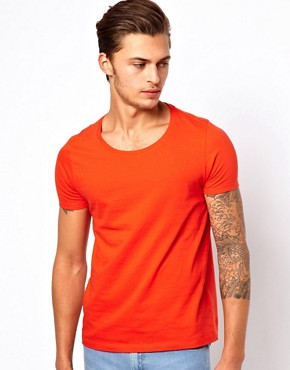 Image 1 ofASOS T-Shirt With Scoop Neck