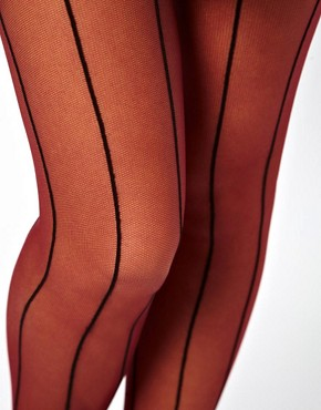 Image 2 ofASOS Tulle Stripe Tights