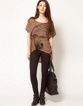 Image 4 ofFrench Connection Wingscape Oversized T-Shirt