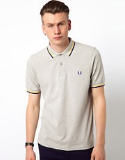 Polo de corte slim con doble ribete de Fred Perry