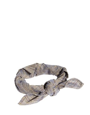 Image 1 ofASOS Bandana With Textured Stripe