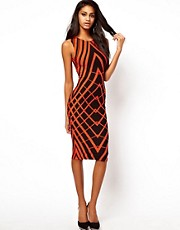 ASOS Bodycon Dress In Graphic Print
