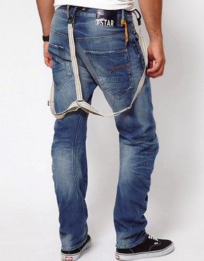 Image 2 ofG Star Jeans Tapered Arc 3D With Braces