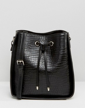 Glamorous Cross Body Bag With Drawstring Tie