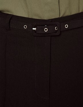 Image 3 ofASOS High Waist Belted Trousers In Skinny Fit