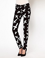 Tripp Nyc Crosses Skinny Jeans
