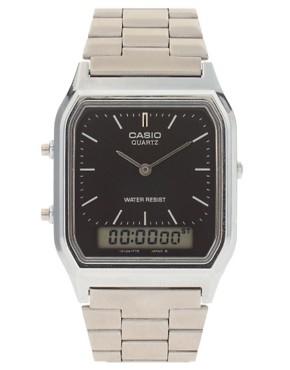 Image 1 ofCasio AQ-230A-1DMQYES Bracelet Timer Watch