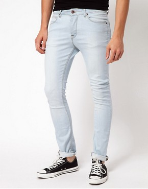 Image 1 ofASOS Super Skinny Jeans With Bleach Wash