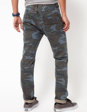 Image 2 ofASOS Slim Jeans in Washed Camo