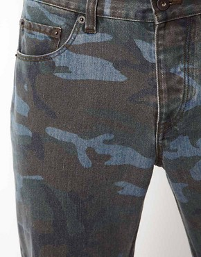 Image 3 ofASOS Slim Jeans in Washed Camo