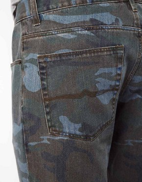 Image 4 ofASOS Slim Jeans in Washed Camo