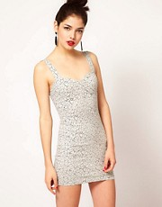 Motel Crackle Bodycon Dress