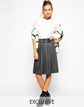 Nishe Full Midi Pleated Skirt