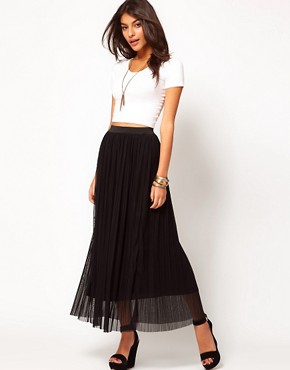 Image 1 ofLove Mesh Pleated Maxi Skirt