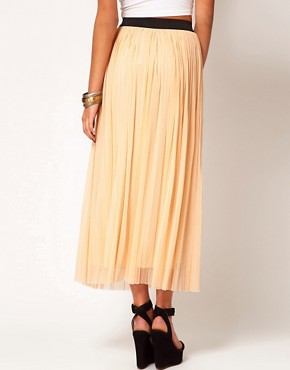 Image 2 ofLove Mesh Pleated Maxi Skirt